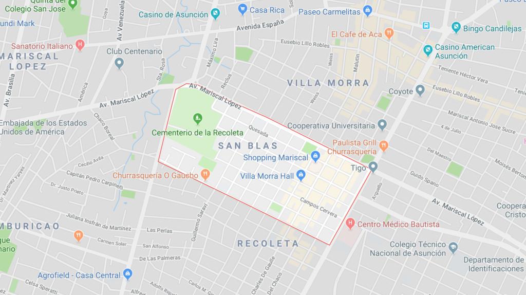 asuncion, san blas, recoleta, where to stay in asuncion