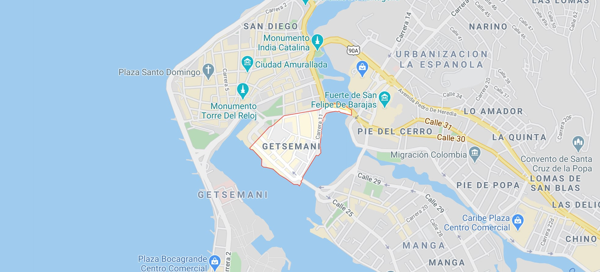 Getsemani map